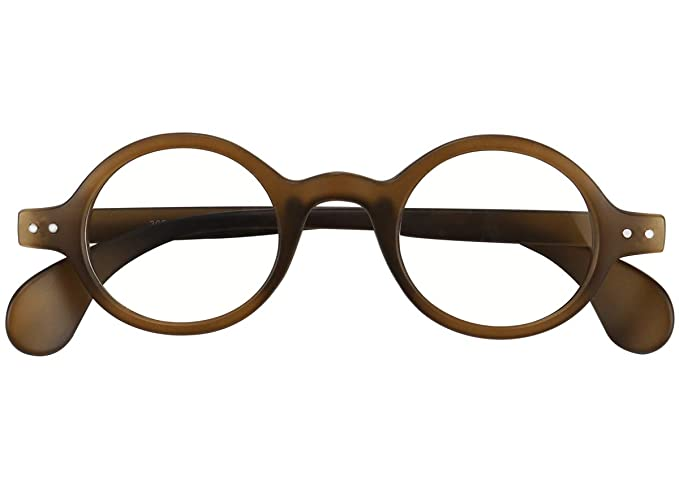 b5f6f4dc72 Agstum Retro Small Round Optical Prescription Eyeglass Frame (Brownish  green)