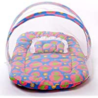 HAY BABY/P.H. Baby Mosquito Net and Mattress (Multi-Colour, 0-6 Month)