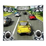Beshowereb Fleece Throw Blanket Video Games Curtains Cars Decor Racing Video Gaming Illustration Need Speed Road Competition Extreme M