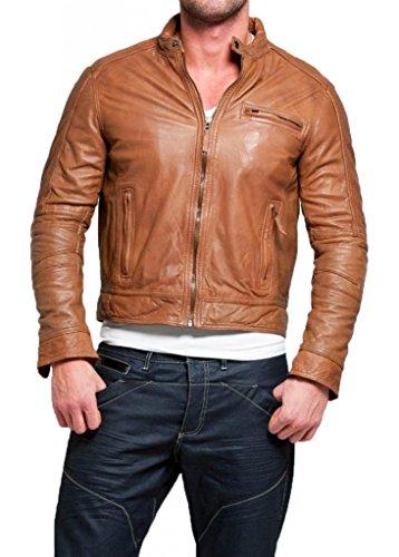 Leather Hombre Marrón Chaqueta Para Junction 6T0P6xr