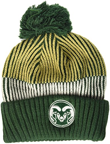 NCAA Colorado State Rams Youth Boys Team Stripe Cuffed Hat w/Pom, Multi, Youth One Size by NCAA by Outerstuff