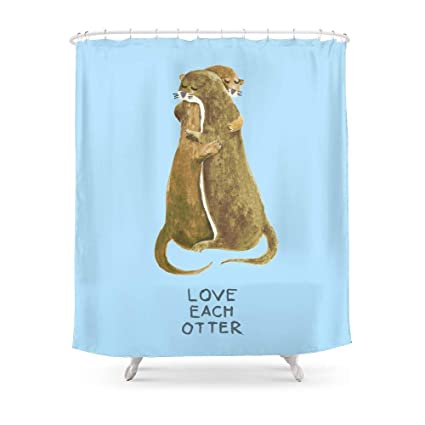 Amazon MAOXUXIN Love Each Otter Shower Curtain 60 By 72 Home