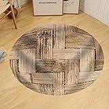 Gzhihine Custom round floor mat Thai Bamboo Weaving Texture