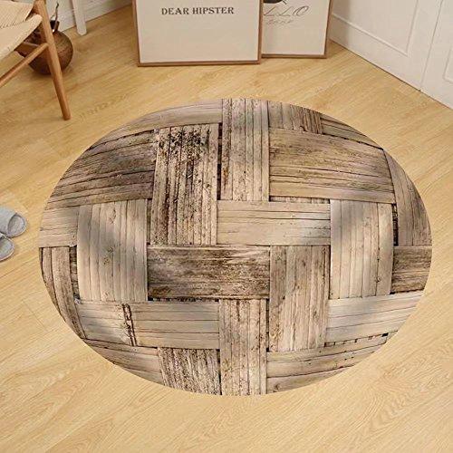 Gzhihine Custom round floor mat Thai Bamboo Weaving Texture by Gzhihine