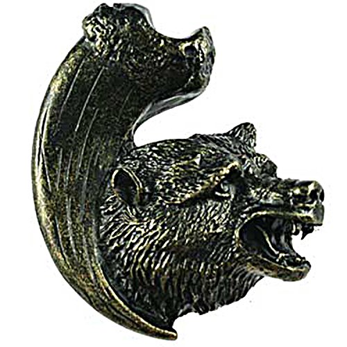 Sierra Lifestyles Bear with Claw Knob, Right Facing, Bronzed Black ()