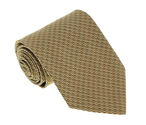 - Missoni U5064 Gold Chevron 100% Silk Tie for mens