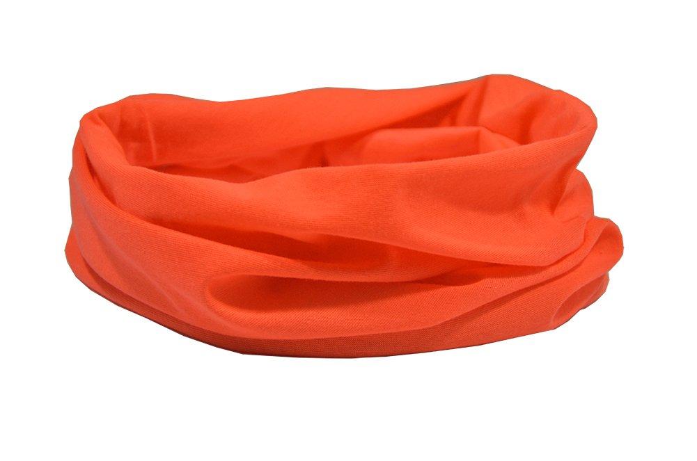 RUFFNEK - Braga de cuello multifuncional, color naranja fosforito
