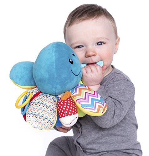 Nuby Ollie Activity Plush Toy, Octopus