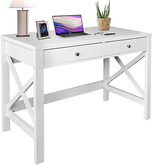 Amazon.com: ChooChoo Home Office Desk Writing Computer Table ...