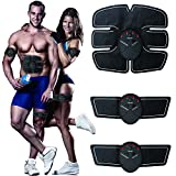 electronic abdominal machine - Muscle Toner, Abdominal Toning Belt, EMS ABS Toner Body Muscle Trainer Wireless Portable Unisex Fitness Training Gear for Abdomen/Arm/Leg Training Home Office Exercise Workout Equipment, Training Gear