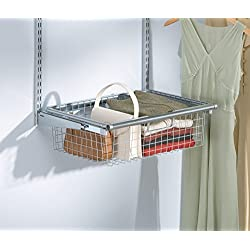 Rubbermaid FG3J0501TITNM Configurations Sliding Basket - Titanium