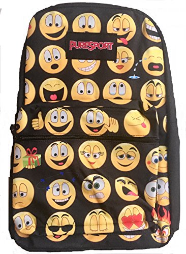 "Price comparison product image Black 17"" Emoji Backpacks HOT SELLER - 600 denier fabric"