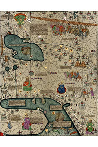 History Prints Cresques Catalan Atlas; World Map; 1387; Antique Map; Plate 2 of 3 ()