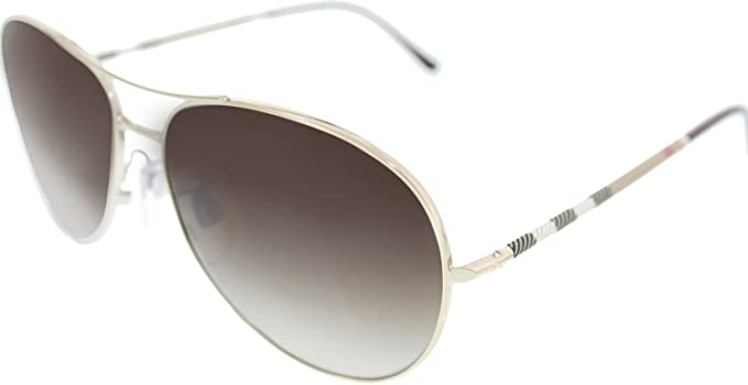 53bd0157df8 Image Unavailable. Image not available for. Colour  Burberry Women s  Gradient BE3056-100213 Silver Aviator Sunglasses