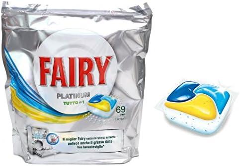 Top SHOP Fairy Platinium todo en 1 para lavavajillas Cápsulas 69 ...