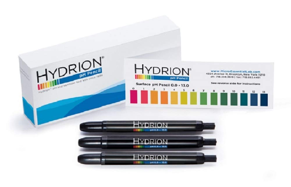 Micro Essential Lab P-12M Hydrion Insta-Chek Surface pH Pencils, 0-13 pH (Pack Of 3) 1211U13EA