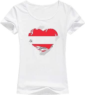 White austria Flag T-Shirt For Women