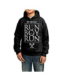 LULU Woodkid - Run Boy Run Men's Geek Long Sleeve Sweater Black
