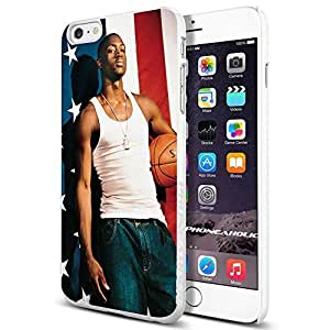 Basketball NBA Dwyane Wade USA Flag Cool iphone 4 4s Smartphone Case Cover Collector iphone TPU Rubber Case White [By PhoneAholic]