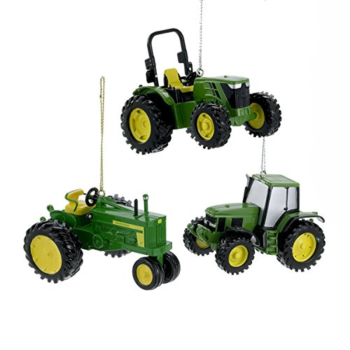 John Deere Tractors Official Licensed Christmas Holiday Ornaments Set of - John Tractor Ornament Deere