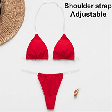 HUASE Bikini Bikini Transparente Micro Tanga Sexy Traje de ...