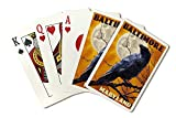 Baltimore, Maryland - Raven and Moon (Playing Card Deck - 52 Card Poker Size with Jokers)