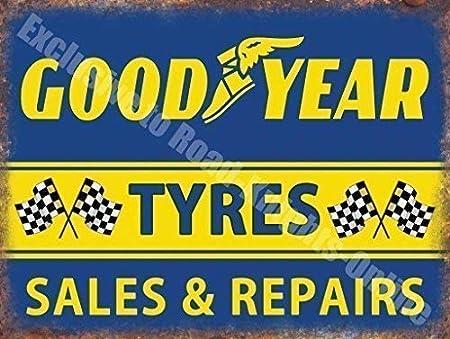 Goodyear Neumáticos Sales & Repairs Garaje Vintage Metal ...
