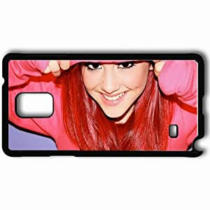 Personalized Samsung Note 4 Cell phone Case/Cover Skin Ariana Grande Black