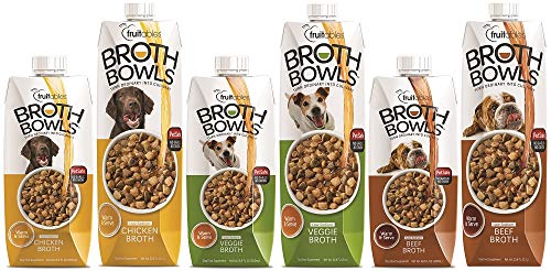 Image of Fruitables Beef Broth Bowl Pet Safe Natural Food Topper Low Sodium