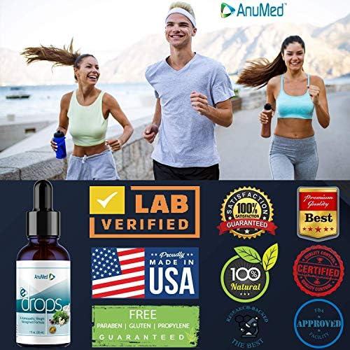 Anumed e-Drops Premium Fast Fat Burner   Metabolism & Energy Booster   Control Hunger   Super Fast Transformation   Healthy Weight Loss Drops   All Natural Vegan & Keto-Friendly for Women & Men (1oz) 9