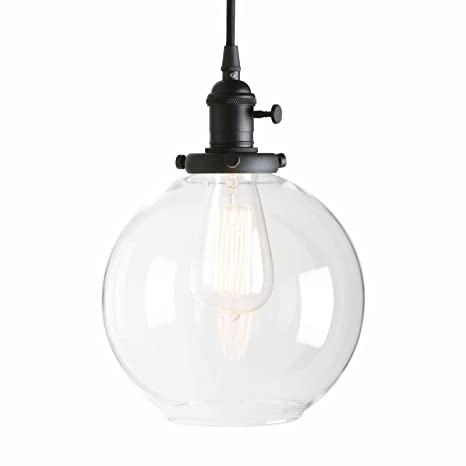 Permo 1 light vintage industrial clear glass hanging pendant light permo 1 light vintage industrial clear glass hanging pendant light with 79quot globe round aloadofball Images