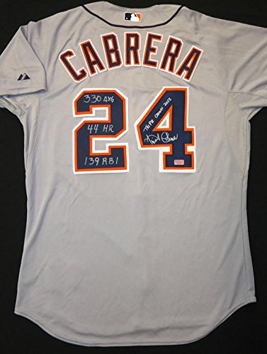Miguel-Cabrera-Autographed-Detroit-Tigers-Road-Authentic-Cool-Base-Jersey-Triple-Crown-2012-and-330-AVG-44-HR-139-RBI-Inscriptions