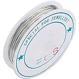 TOOGOO (R) 1X Rollo Hilo Metal Banado de Plata para Joyas Bisuteria 0.8mm