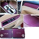 Darpy (TM) 127* 30cm 3D Carbon Fasern Film Vinyl Aufkleber Auto Body/innen Dekoration