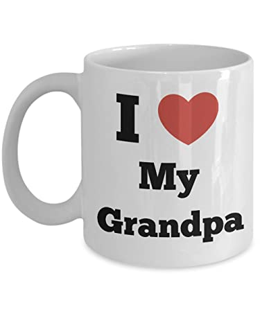 legendaryquotes funny grandpa coffee mug i heart my grandpa grandpa gifts mugs perfect