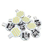 Grv T10 921 C921 LED Bulb Light 921 194 24-3528 SMD lamp Super Bright AC/DC 12V -24V Warm White Version 2.0 Pack of 10