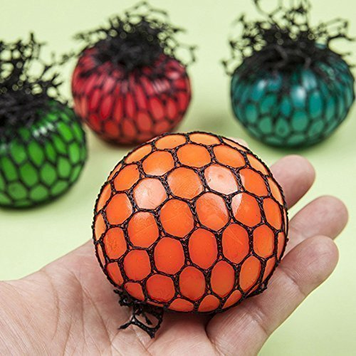 (1 PCS TopSeller Mesh Ball, Grape Stress Relief Squeezing Ball Hand Wrist Toy Random Color - 1.97