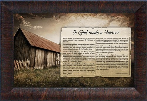 Artistic Reflections ''So God Made a Farmer'' Framed Art from Artistic Reflections