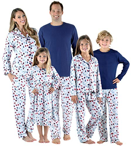 SleepytimePjs Holiday Family Matching Hot Cocoa PJs Sets for The Family Women's Lounger (STM-3046-W-1002-Med)