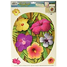 Beistle 54364 Tropical Toilet Topper Peel 'N Place Sheet, 12 by 17-Inch
