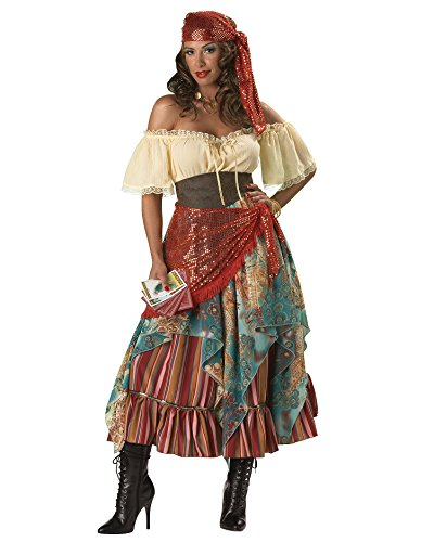 Sexy Fortune Teller Gypsy Costume Vagbond Bohemian Style Wench Costume Sizes: Large (Sexy Gypsy Costumes)