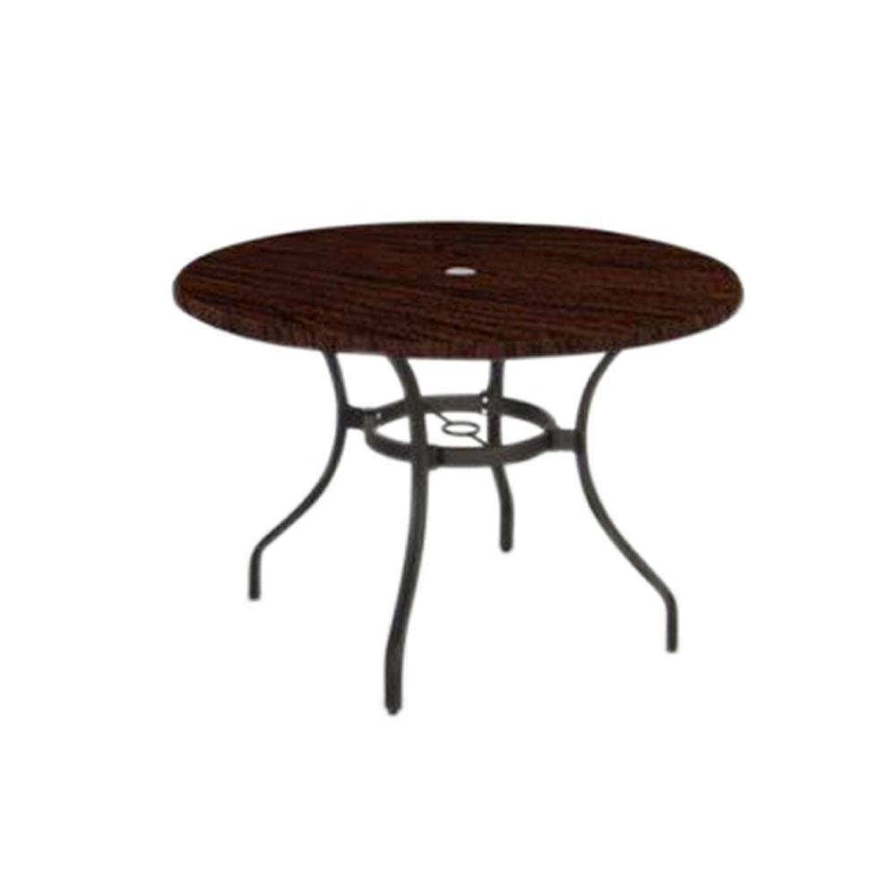 Amazon com hampton bay manila bay commerical contract grade 40 in round werzalit patio top dining table electronics
