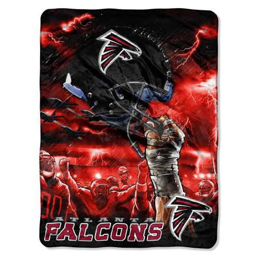 NFL Atlanta Falcons 60-Inch-by-80-Inch Plush Rachel Blanket, Sky Helmet Design