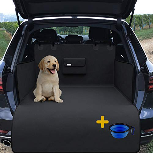 Car Boot Cover for Dogs, Boot Liner Protector – Waterproof, Washable, Dirt Resistant | Soft Nonslip Mat + Bumper Flap | Protective Blanket for Cargo Liner | Trunk Travel Blanket for Cars, SUVs, Trucks