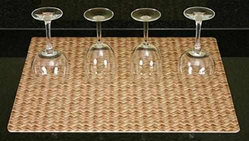 UPC 758035490302, DryMate Dark Brown Bamboo Weave Kitchen Dry Mat