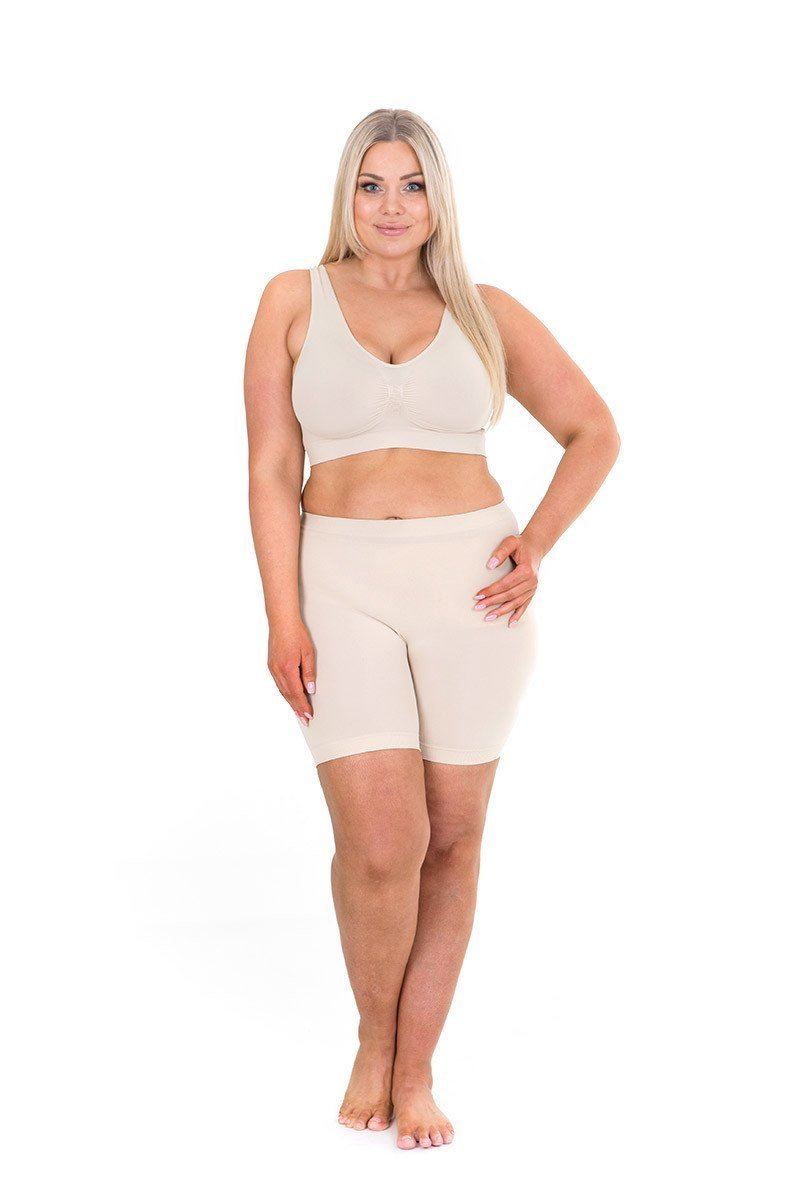 Sonsee Anti Chafing Lightweight Breathable Plus Size Underwear Shorts (Stunning 18-20, Short Leg - Nude)