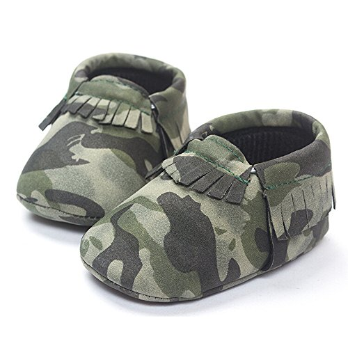 Walker Baby Costume In (Baby Boy Girl Pre-Walker Leather Tassel Fringe Moccasin Shoes in Camouflage Color (12cm(4.7inch),)