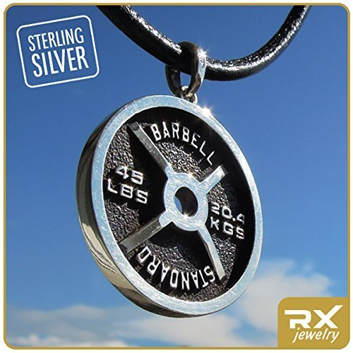 Weightlifting Necklace Fitness Gifts For Men Gym Sterling