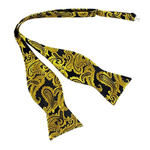 Bowtie Bow Cuff Verlike Party Neck Self Gourd Shape Pocket Adjustable 16 Tie Men's Paisley wWq1pq7HX