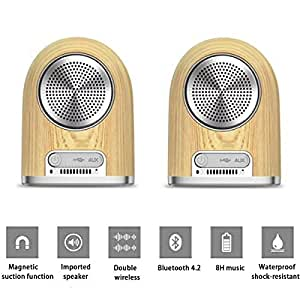 XHORIZON Wireless Indoor And Outdoor Portable Speakers With Magnetic Suction